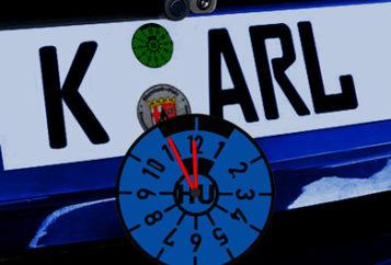 Service TÜV Check - Bild KFZ Kennzeichen mit TÜV Plakette